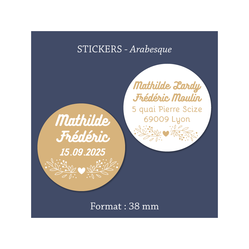 Sticker mariage Arabesque