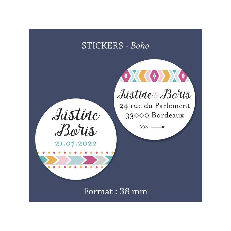 Sticker mariage Boho