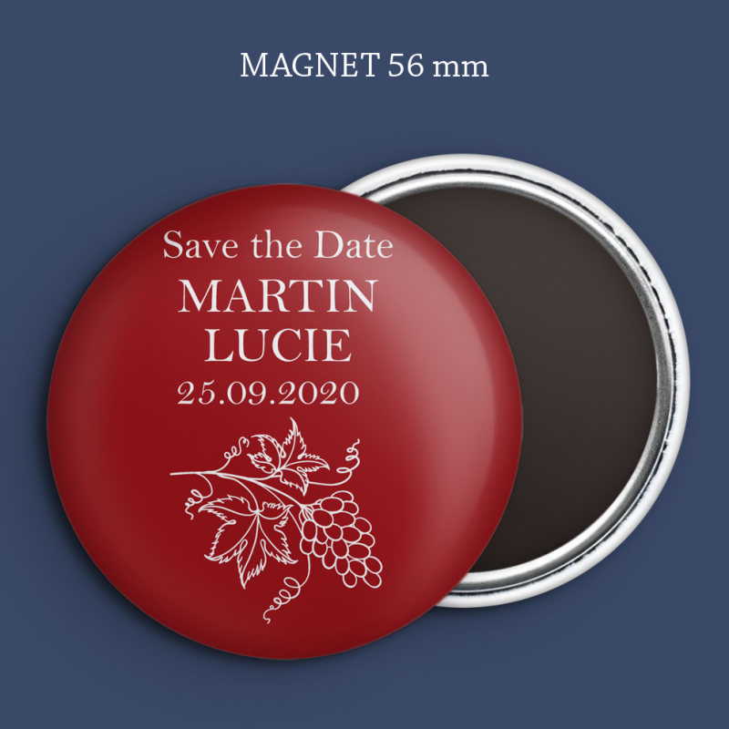 Magnet Save the date Vigne