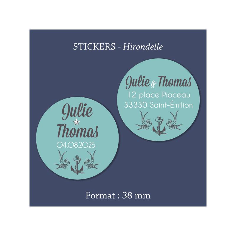 Sticker mariage Hirondelle