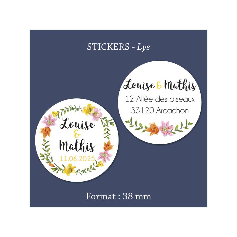 Sticker mariage Lys