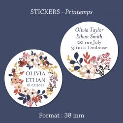 Sticker mariage Anémone
