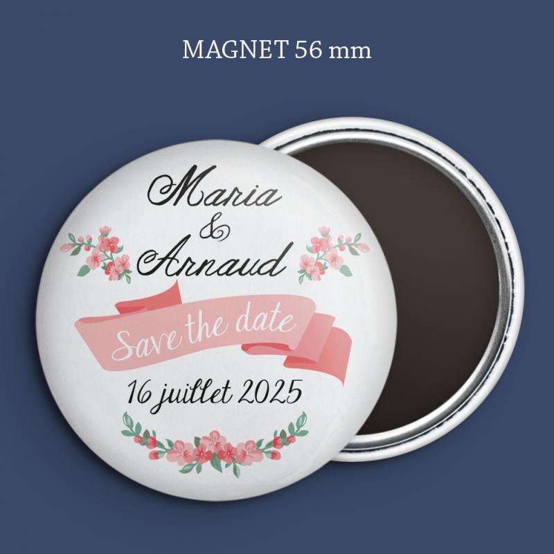 Magnet Save the date Fleurs des champs