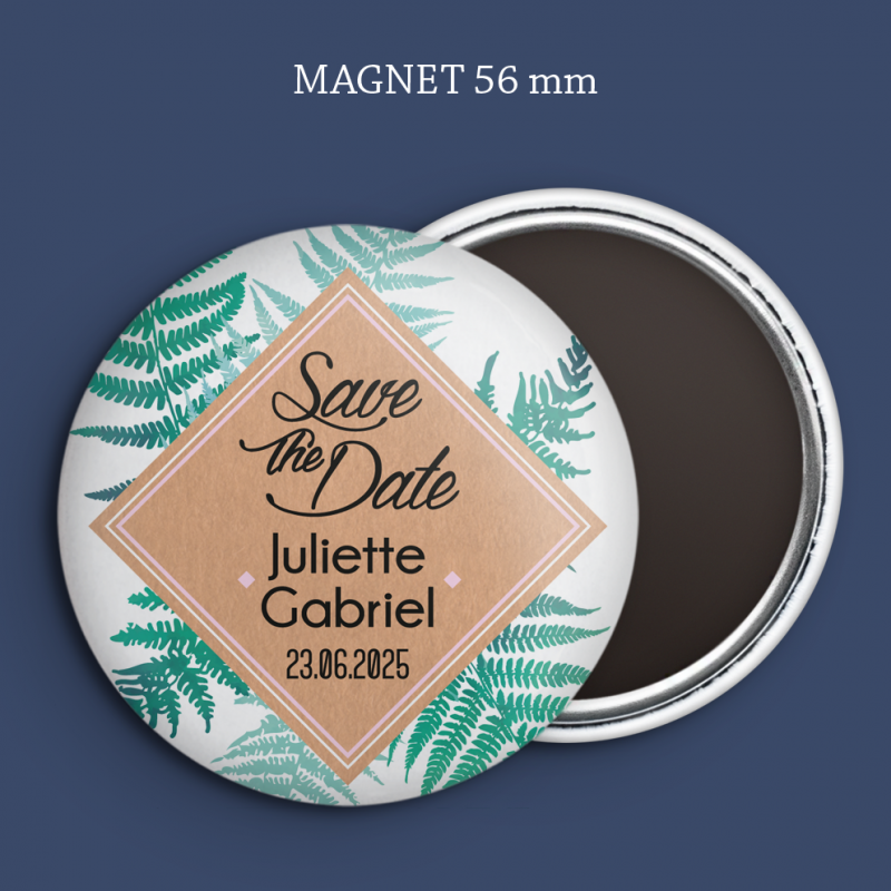 Magnet Save the date Fougère
