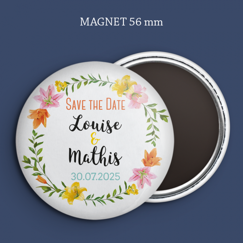 Magnet Save the date Lys