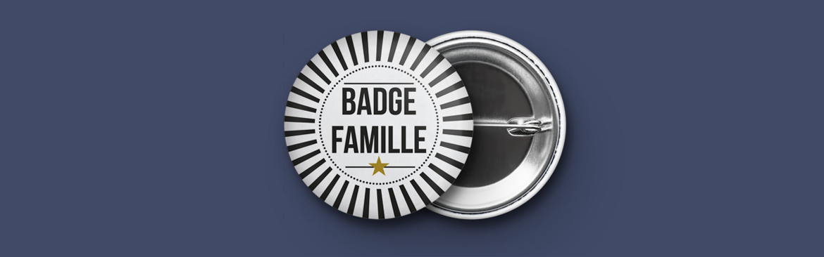 badge mariage Famille
